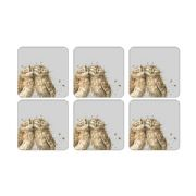 Wrendale Set of 6 Owl Coasters